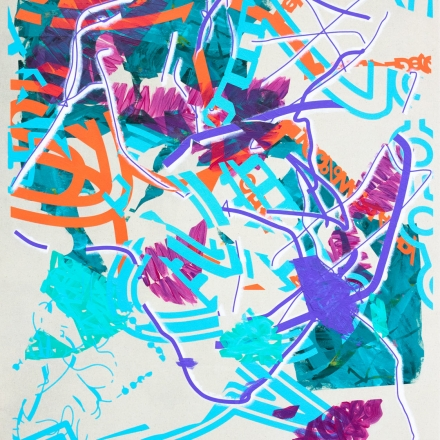 Blancmange People, an abstract painting by John Cake