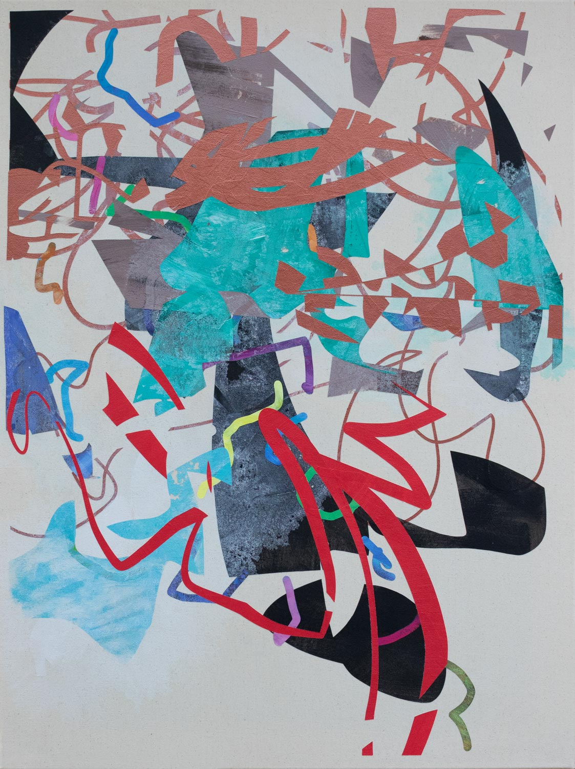 An abstract painting by John Cake called Opera Site Youth Hey!